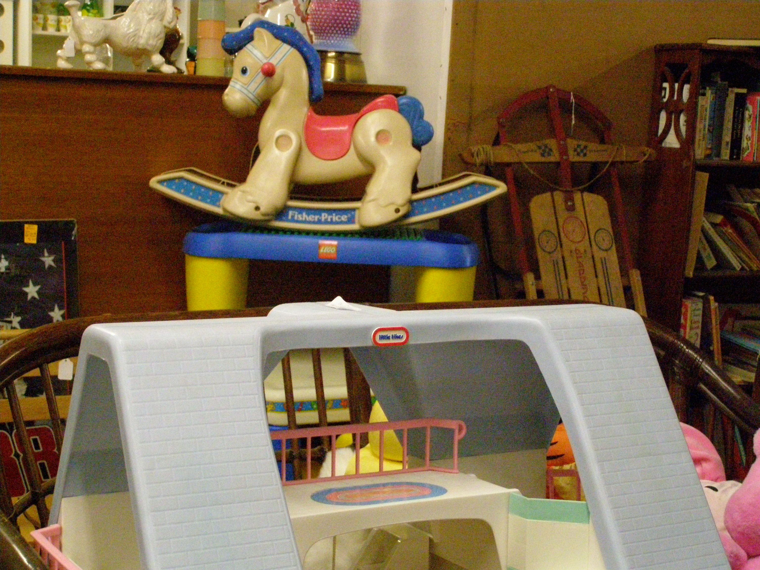 Toddler toys such as Fisher Price toys