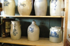 Stone Pottery With Blue