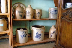 Pottery with Blue